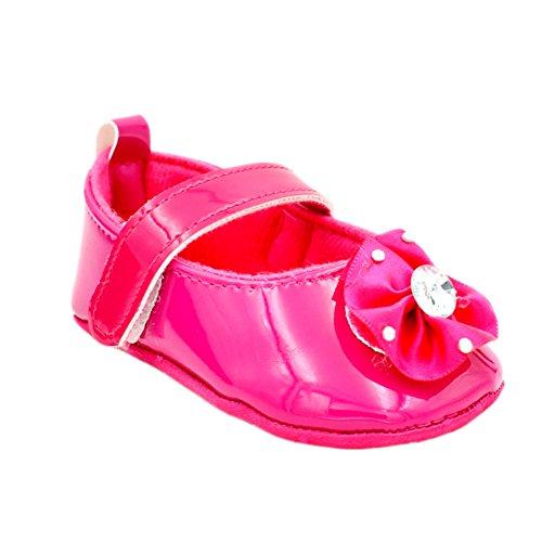 6-12 Meses: - Leap Frog Brilho Mary Jane, Bebê Menina Walker Sapatos, Vermelho Tamanho Aumentou