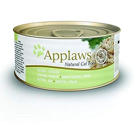 Applaws Kitten Chicken, Lata (53% Gallina, arroz, gelier Vegetal Medio), 1.68 kg: Amazon.es: Productos para mascotas