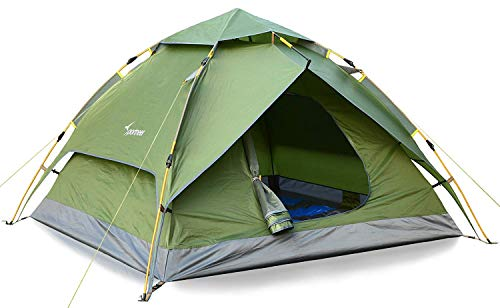 - Sportneer Camping Tent 2-3 Person Automatic Instant Pop Up Waterproof Camping Hiking Travel Beach Tents for Family Groups