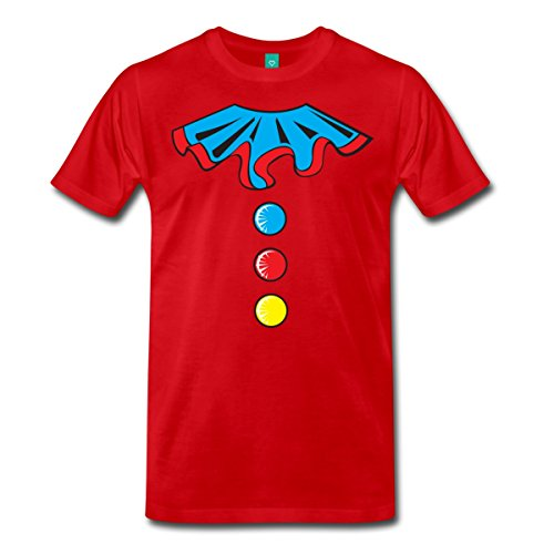 Auguste Clown Costume (Funny Clown Costume Men's Premium T-Shirt by Spreadshirt, 5X, red)