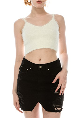 UPSCALE Women's Cropped Cami Ivory - Women Upscale