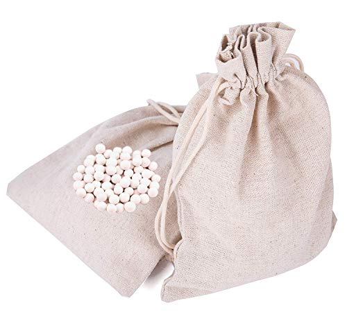 Tebery 1.8LB Reusable 10mm Ceramic Pie Weights Crust Weights Natural Ceramic Stoneware with Draw String Bag (0.9LB X 2 Pack)