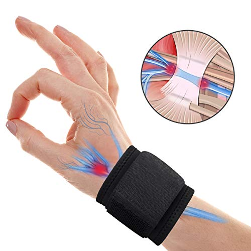 Wrist Brace Carpal Tunnel, Adjustable Wrist Support for Arthritis and Tendinitis Pain Relief - Ergonomic Wrist Compression Strap for Working Out Sport Weightlifting - Fit Left Hand and Right Hand