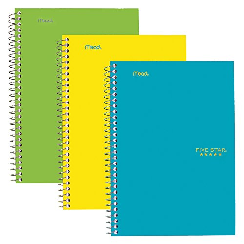 Five Star Spiral Notebooks, 2 Subject, College Ruled Paper, 100 Sheets, 9-1/2