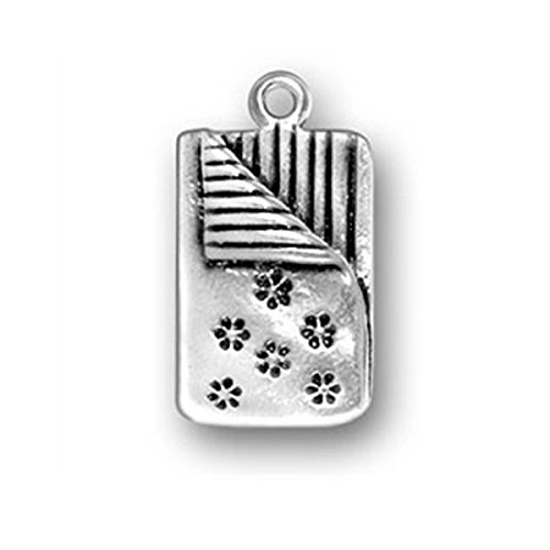 Sterling Silver Slumber Party Sleeping Bag Charm Item #435 3D Heavy Charm