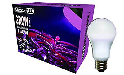 Miracle LED Almost Free Energy 150W MAX Red & Blue LED Grow Lite - Combines Red & Blue Light for Healthy Indoor Plant Growth and Photosynthesis in DIY Horticulture, Indoor Gardens (604296) Single Pack