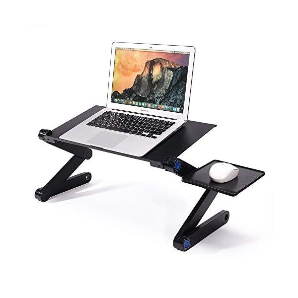 Mesa para ordenador portátil con ventiladores de refrigeración