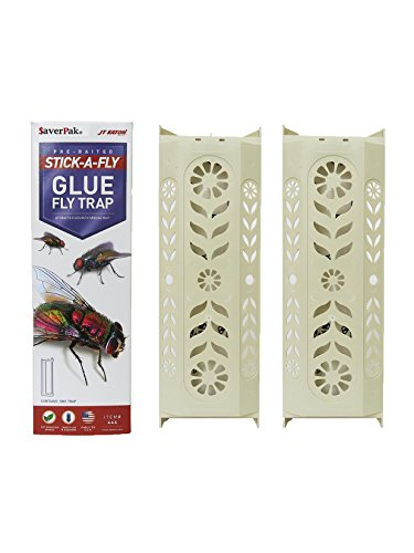 $averPak 2 Pack- 2 JT Eaton Stick-A-Fly Glue Fly Stick Traps