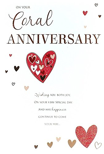 amazon com on your coral 35th wedding anniversary card good