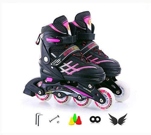 インラインスケートチルドレンチルドレンインラインスケートシューズシューズABEC 7カーボンチルドレンインラインスケート調整可能な靴のサイズ範囲