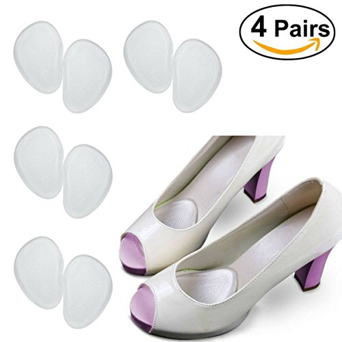 Party Shoes Foot Pain Relief Pads (4 Pairs), Metatarsalgia Ball Of Foot Cushions Metatarsal Gel Inserts, Callus Corns Blisters Removal Care, Party Shoes Women by Ballotte