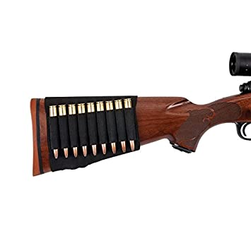 Allen 206 Buttstock Rifle Cartridge Holder, Black, Holds 6 by Allen Company