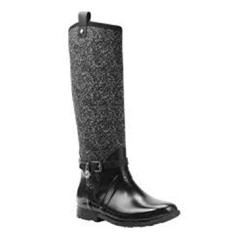Dames Regenlaarzen / Zwart / Comfort Slip Op / Maat 10
