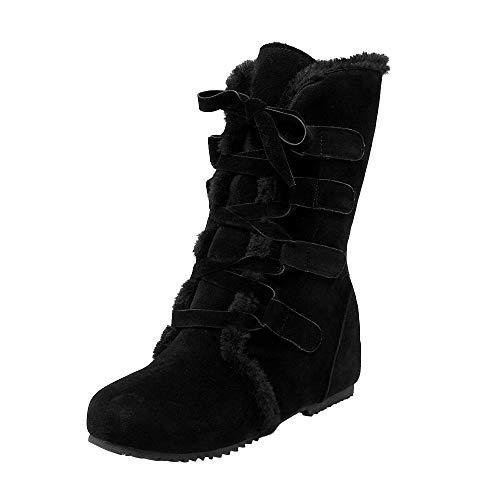 Chaussures Bottines Bottes À Fourrées Coton En Neige Noir Femmes Pour Suédé Plates De 2018 Boots Femmes Lacets Manadlian xwARqAIC