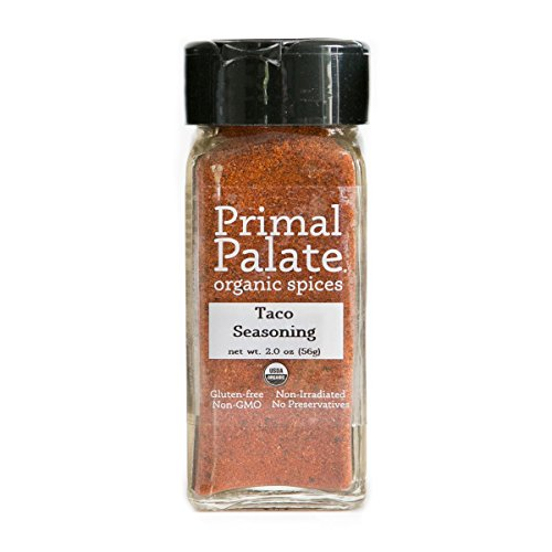 - Primal Palate Organic Spices Taco Seasoning, Certified Organic, 2.0 oz Bottle