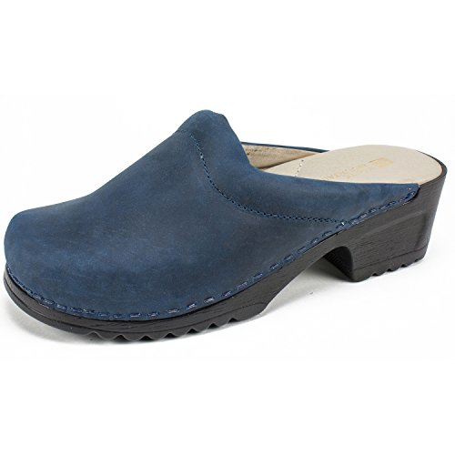 HANA Mule Shoes WHITE Women's Navy MOUNTAIN 6OpWqxE