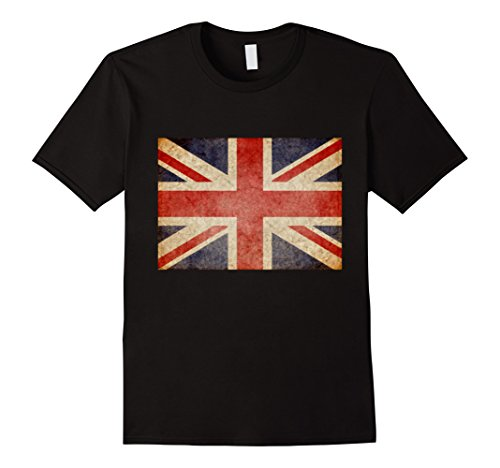 British Flag Colors (Mens PREMIUM Union Jack T-shirt Vintage UK Flag British Retro XL Black)
