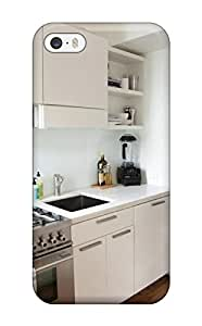 Snap-on Small Contemporary Style Kitchen With White Cabinets And Stainless Steel Appliances Case Cover Skin Compatible With Iphone 5/5s