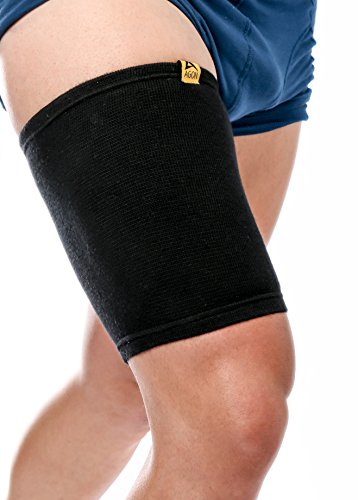 Agon Thigh Compression Sleeve Brace Support Compression Recovery Thighs Wrap Pain Relief for Sore Hamstring Groin Quad Sweat Men & Women Hip Injury Thigh Compressions Trimmer Active Sports (Medium) ()