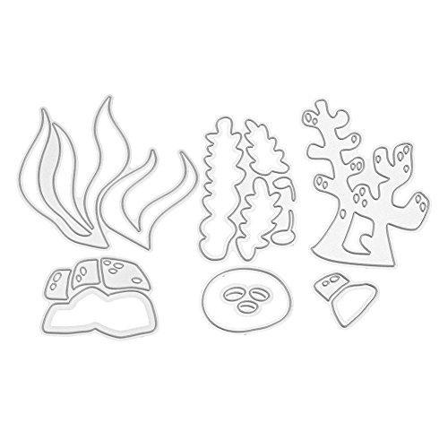Demiawaking ダイカットテンプレート DIY用品 手作り 描画テンプレート カード作り道具 スクラップブッキング用品 切り抜き紙が作れる型 紙飾り用具 シーグラス MS301の商品画像