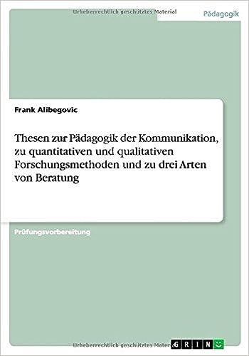 Thesen Zur Padagogik Der Kommunikation Zu Quantitativen Und