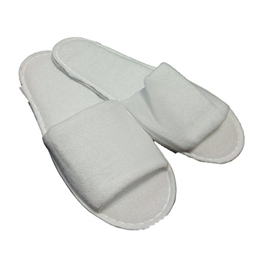 3116d4acc90 50 Pairs Open Toe Terry Towelling Slippers