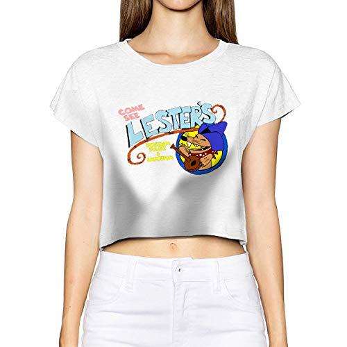 Anna B Guillaume Women's Lester's Possum Park Leak Navel Crew Neck T-Shirts Simple Short Sleeve White]()