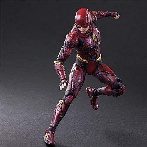 JSSFQK DC Justice League película pa Cambio Flash 2 generación Modelo Estatua 25 cm Anime Adorno Juguete