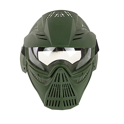 Airsoft Mask,YASHALY Adjustable Full Face Army Military Tactical Gear with Goggle Eye Protection for Paintball CS Game BB Gun and Party (Airsoft Full Face Mask)