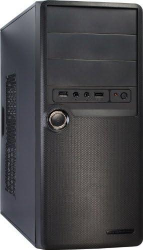 Inter-Tech SY-107 - Caja de Ordenador (Midi-Tower, PC, ATX, uATX, 500W, Superior, Over Current, Sobrevoltaje, Cortocircuito) Negro: Amazon.es: Informática