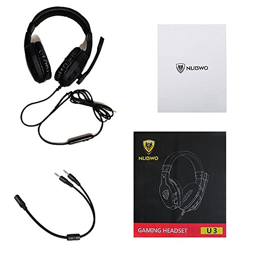 NUBWO Gaming Headset Xbox One PS4 Headset PC Mic, Comfort Earmuff, Lightweight, Easy Volume Control for Xbox 1 S/X Playstation 4 Computer Laptop(Black) (Black) by NUBWO (Image #8)