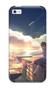 Pretty BcVFgGv6883BoGAp Iphone 5c Case Cover/ Animal Cat City Clouds Original Scenic Sky Sunset Wack Series High Quality Case