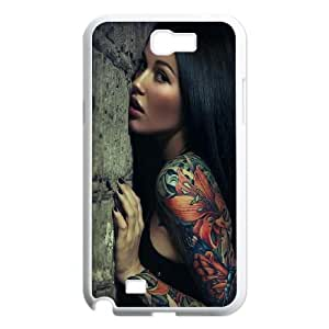 Sexy Sleeve Tattoo Girl Samsung Galaxy N2 7100 Cell Phone Case White Fantistics gift XVC_237593