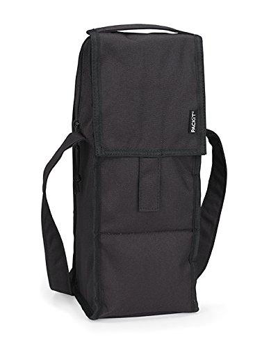 PACKIT BLACK SINGLE BOTTLE COOLER FOLDABLE BAG B00IZCWYYU ブラック ブラック