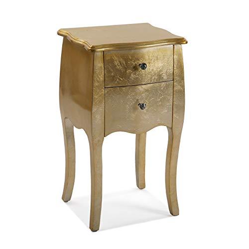 Versa Cagliari Nachttisch vergoldet Holz