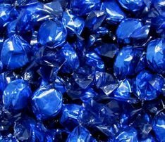 Blue Hard Candy Wrapped in Blue Foil - PepperMint Flavor 2.5 Pounds