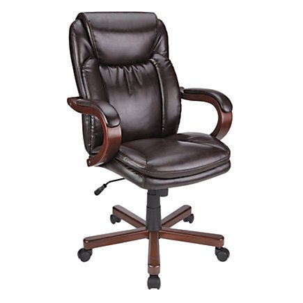 thomasville-bonded-leather-high-back-chair-brown