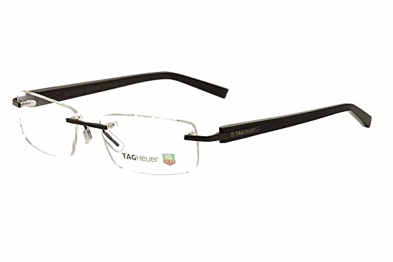 f43303297ad Tag Heuer Eyeglasses Trends TH8104 TH 8104 009 Black Black TagHeuer Rimless  56mm