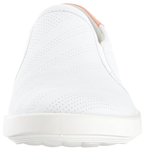 Aimee On Clay Women's Sneaker Fashion Perforated White Ecco Slip muted 1FBqx