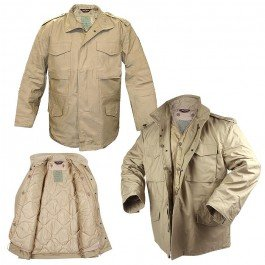 Tru-Spec M-65 Field Jacket w/Liner (M)- Khaki