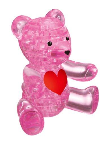 1 X Crystal Puzzle Teddy Bear Pink