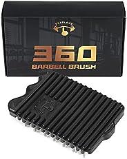 Barbell Brush Oxepleus 360 Barbell Brush Flexible Cleaner for Barbell and Kettlebell ((Steel BRISTLE)