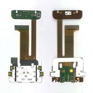 Flat cable con conectores, componentes, cámara, sottotastiera superior y navegación pe.. teclas.