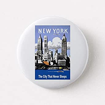 Amazon zazzle new york city vintage travel pinback button zazzle new york city vintage travel pinback button small 125quot reheart Images