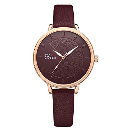 LUXISDE Watch Women Luxury Fashion Lady Frosted Surface Leather Belt Watch Analog Quartz Watch E