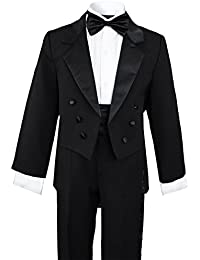 Boys Black Tuxedo with Tail Outfit Set