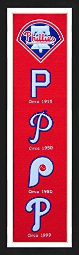 (Winning Streak Philadelphia Phillies Framed Heritage Banner 13x36 inches)
