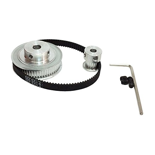 2GT Timing Belt&Pulley BEMONOC HTD Kits GT2 Timing Belt Closed-loop 200mm Pulley 20 Teeth and 60 Teeth for 3D Printer Accessories