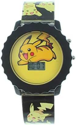 Pokemon Pikachu Kid's Digital Light Up Watch POK3041