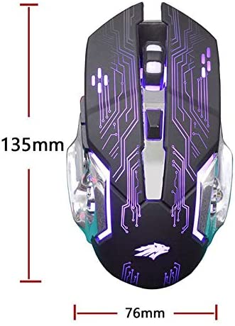 Sunrose X2 Wired USB Computer Gaming Mouse 6D Colorful Glow Buttons Laptop1200Dpi Photoelectric Games Mouse for Pc LOL Pubg Ga